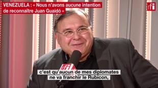 El embajador de Venezuela en Francia, Michel Mujica.