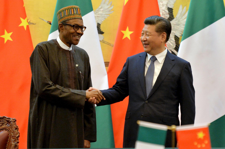 Shugaban Najeriya Muhammadu Buhari tare da takwaransa na China, Xi Jinping
