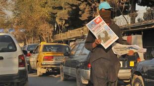 Une rue de Kaboul. Les Afghans réclament des actes en matière de lutte contre la corruption.