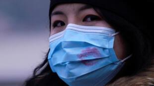 上海一名婦女 2020年1月29日