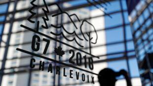 Logótipo da cimeira do G7 entre 8 e 9 de Junho em Charlevoix