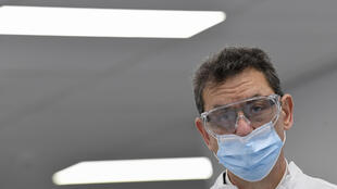 Pfizer CEO Albert Bourla at the Pfizer-BioNtech Covid-19 vaccine factory in Belgium, where capacity is ramping up