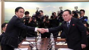 نمایندگان کره جنوبی و کره شمالی در خاک کره جنوبی با هم ملاقات کردند
