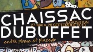 Affiche de l'exposition Chaissac et Dubuffet au musée de La Poste.