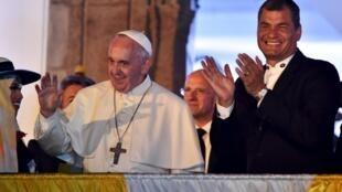 O papa Francisco se reuniu a portas fechadas nesta terça-feira (7) com o presidente do Equador, Rafael Correa.