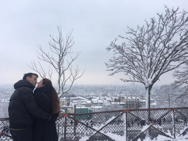 Paris is for lovers, even when it freezes