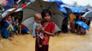 Ảnh một trại tị nạn người Rohingya gần Cox's Bazar, Bangladesh, ngày 20/10/2017.