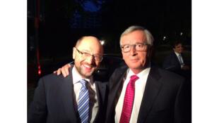 Martin Schulz et Jean-Claude Juncker.