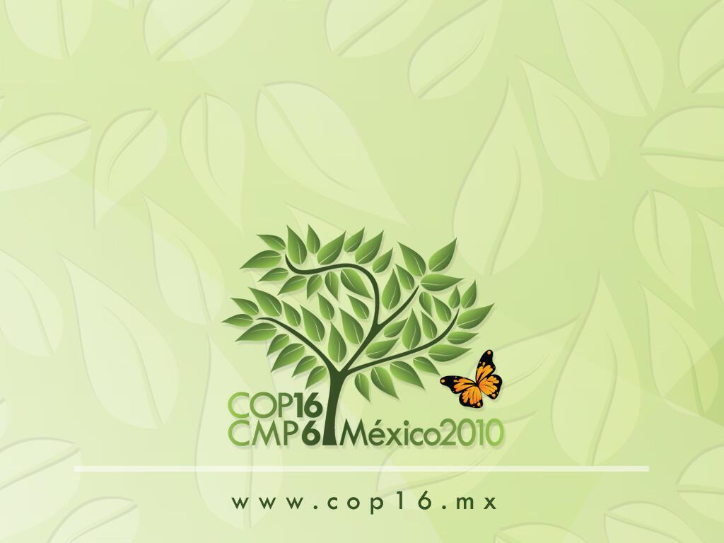 A última conferência global sobre mudanças climaticas foi realizada em Cancún, no Mexico, no final de 2010.