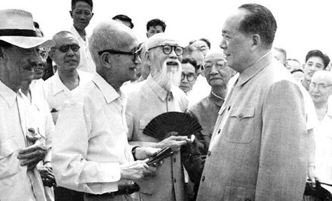 毛澤東與章士釗會談