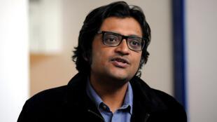 Le journaliste indien Arnab Goswami en 2017 à Bombay (Image d'illustration).