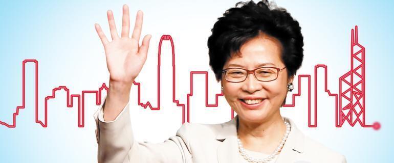 林郑月娥当选香港新一任特首是本期杂志的封面故事