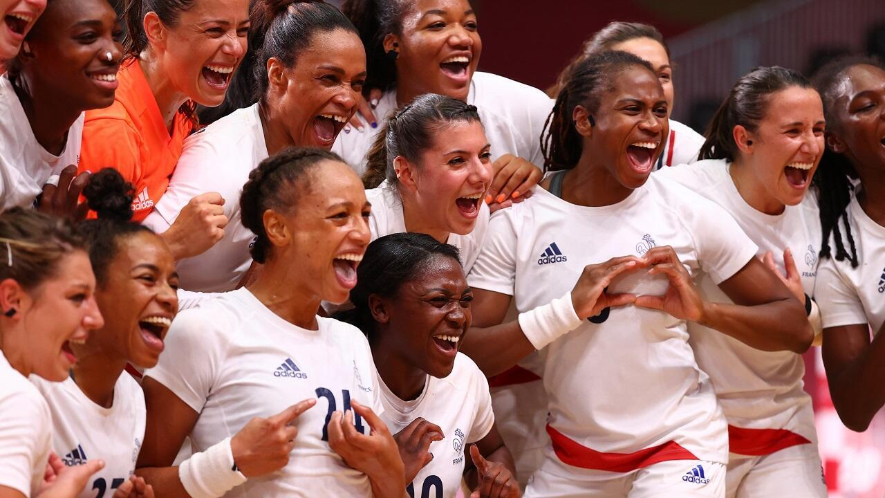 PHOTO Handball Joie des Françaises