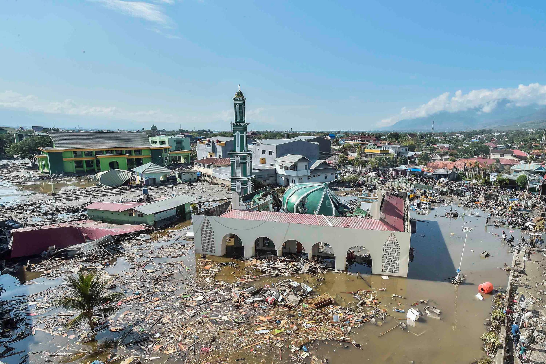Demora dos governos para adotar medidas contra o aquecimento global. Foto:  vista aérea da cidade de Palu, depois da passagem do Tsunami. 29/09/18