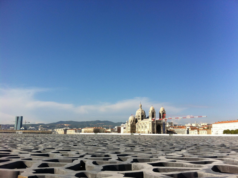 Sur le toit du J4 du MuCEM.