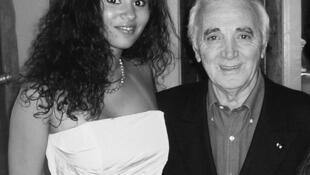 A cantora publicou esta fotografia no seu Facebook, um dia depois da morte de Charles Aznavour, e escreveu que nunca o vai esquecer.
