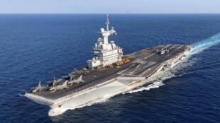 Hàng không mẫu hạm Pháp Charles de Gaulle. Ảnh chụp ngày 24/04/2019,