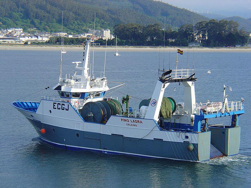 A bottom trawler in Spain