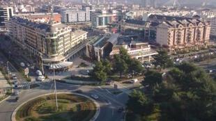 Vue de Podgorica, la capitale du Monténégro.