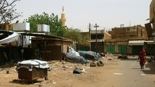 In Khartoum's twin city of Omdurman, across the River Nile, many shops and markets remained closed