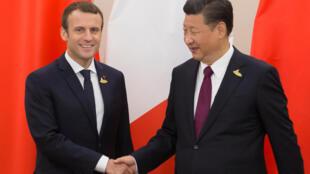 دیدار رهبران فرانسه و چین در حاشیه اجلاس گروه بیست در هامبورگ