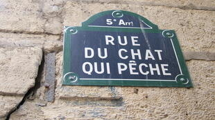 """Tên phố """" Mèo câu cá"""" ở quận 5 Paris"""