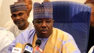 Sabon shugaban jam'iyyar PDP mai adawa a Najeriya, Ali Modu Sheriff.