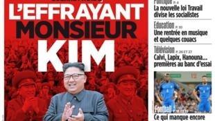 A crise na península coreana é a manchete do jornal francês Aujourd'hui en France desta terça-feira (5).