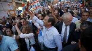 O premiê Passos Coelho durante o último dia da campanha para as legislativas (2 de outubro)