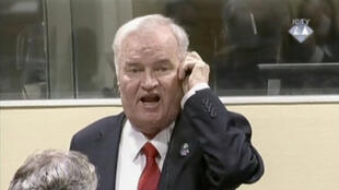 Ratko Mladic, à l'annonce du verdict de son procès au Tribunal pénal international pour l'ex-Yougoslavie, le 22 novembre 2017.