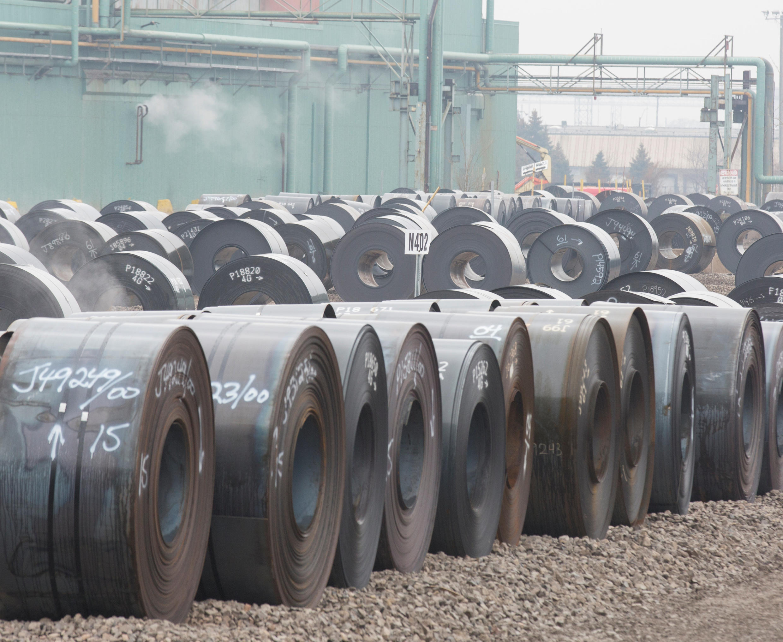 Thép của nhà máy ArcelorMittal Dofasco, ở Hamilton, Ontario, Canada, ngày 07/03/2018.