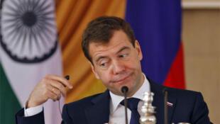 Le président russe Dmitri Medvedev.