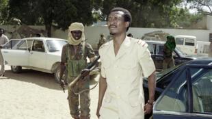 Idriss Déby, au lendemain du renversement d'Hissène Habrè, le 8 décembre 1990 à Ndjamena avant un discours télévisé.