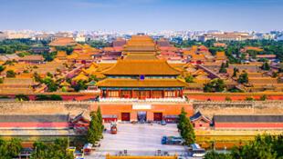 图为北京故宫远眺景