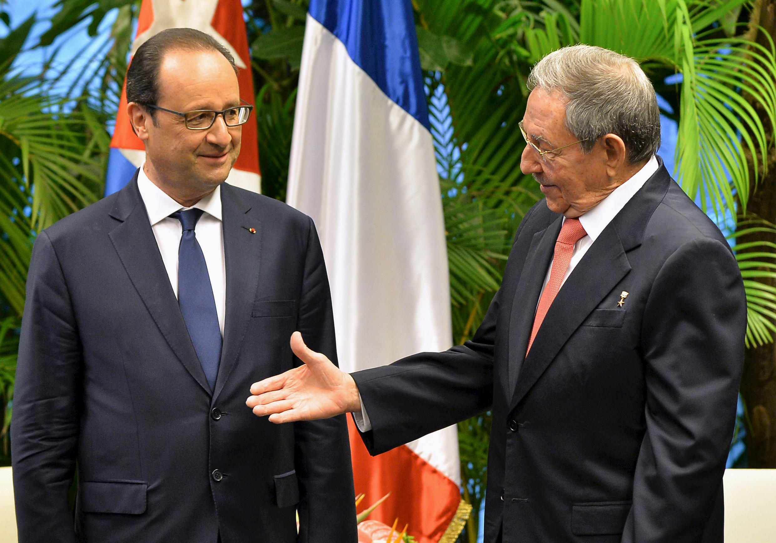 French President Francois Hollande became the first Western leader to visit Cuba in more than 50 years following the thawing of relations between the United States and Cuba.