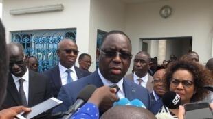 Macky Sall, presidente senegalês, e anfitrião de Jorge Carlos Fonseca.