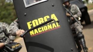 Miembros de la Fuerza Nacional de Seguridad Pública brasileña.