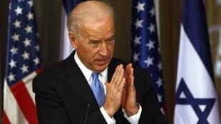 Joe Biden lors d'une conférence de presse en présence de Benjamin Netanyahu à Jérusalem en 2019. (photo d'illustration)