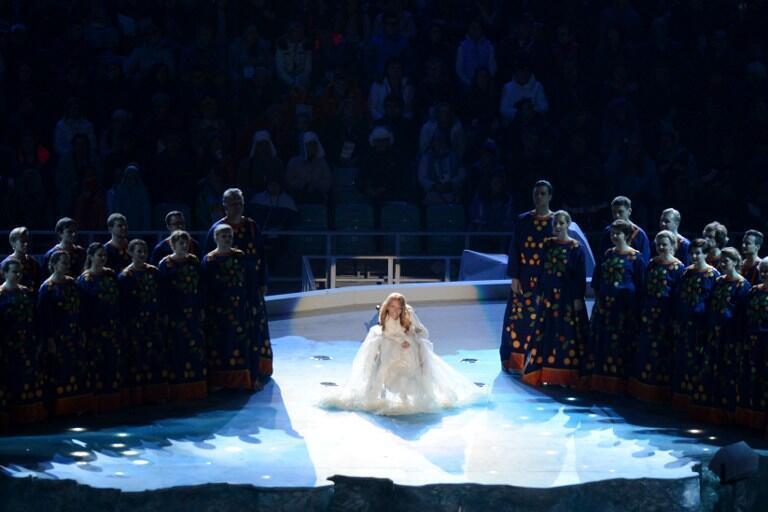 Nữ ca sĩ Ioulia Samoilova, đại diện cho Nga tham dự giải Eurovision diễn ra vào tháng 5/2017 tại Ukraina.