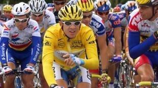 Chris Boardman lors du 85e Tour de France en 1998.