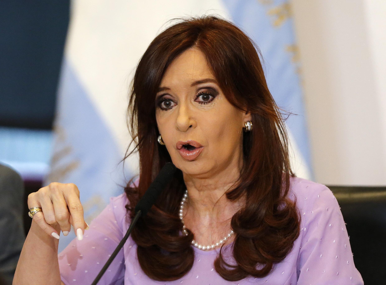 La présidente de l'Argentine Cristina Kirchner, le  11 février 2015. Selon «Clarin», la présidente a exigé une nouvelle loi sur les services de renseignement.