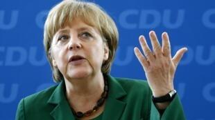 A chanceler alemã Angela Merkel se reúne com lideranças do seu partido (CDU) nesta segunda-feira.