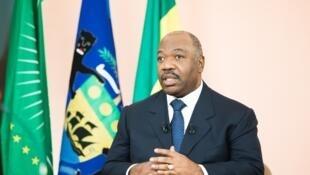Le président Ali Bongo, lors de ses vœux télévisés aux Gabonais, le 31 décembre 2018.
