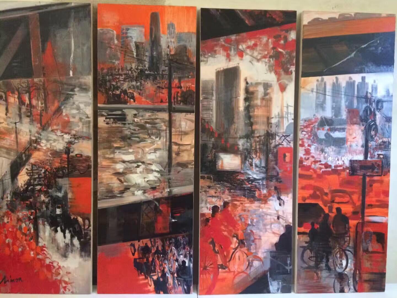 法國藝術家Simon的風景四重奏之一。