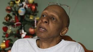 Guillermo Fariñas, em sua casa de Santa Clara, no dia 14 de dezembro.
