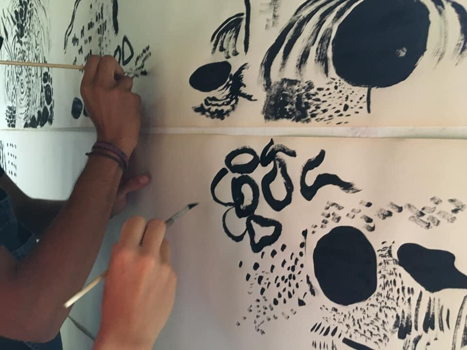 "Atelier ""Dessiner les sons"" - 27e festival d'art international Stazione di Topolò /Postaja Topolove, Italie, 2020"