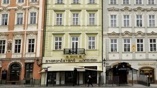 Le centre de la vieille ville alors que le gouvernement tchèque a imposé de nouvelles restrictions pour freiner la propagation de la maladie à coronavirus, à Prague, le 1er mars 2021.