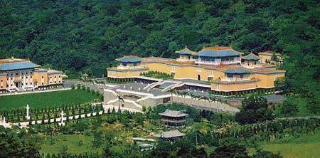 图为台湾故宫远眺