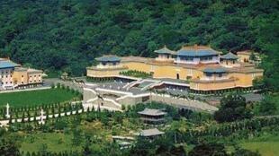 圖為台灣故宮遠眺
