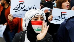 Manifestation des étudiants contre le gouvernement à Bagdad, ce dimanche 9 février 2020.